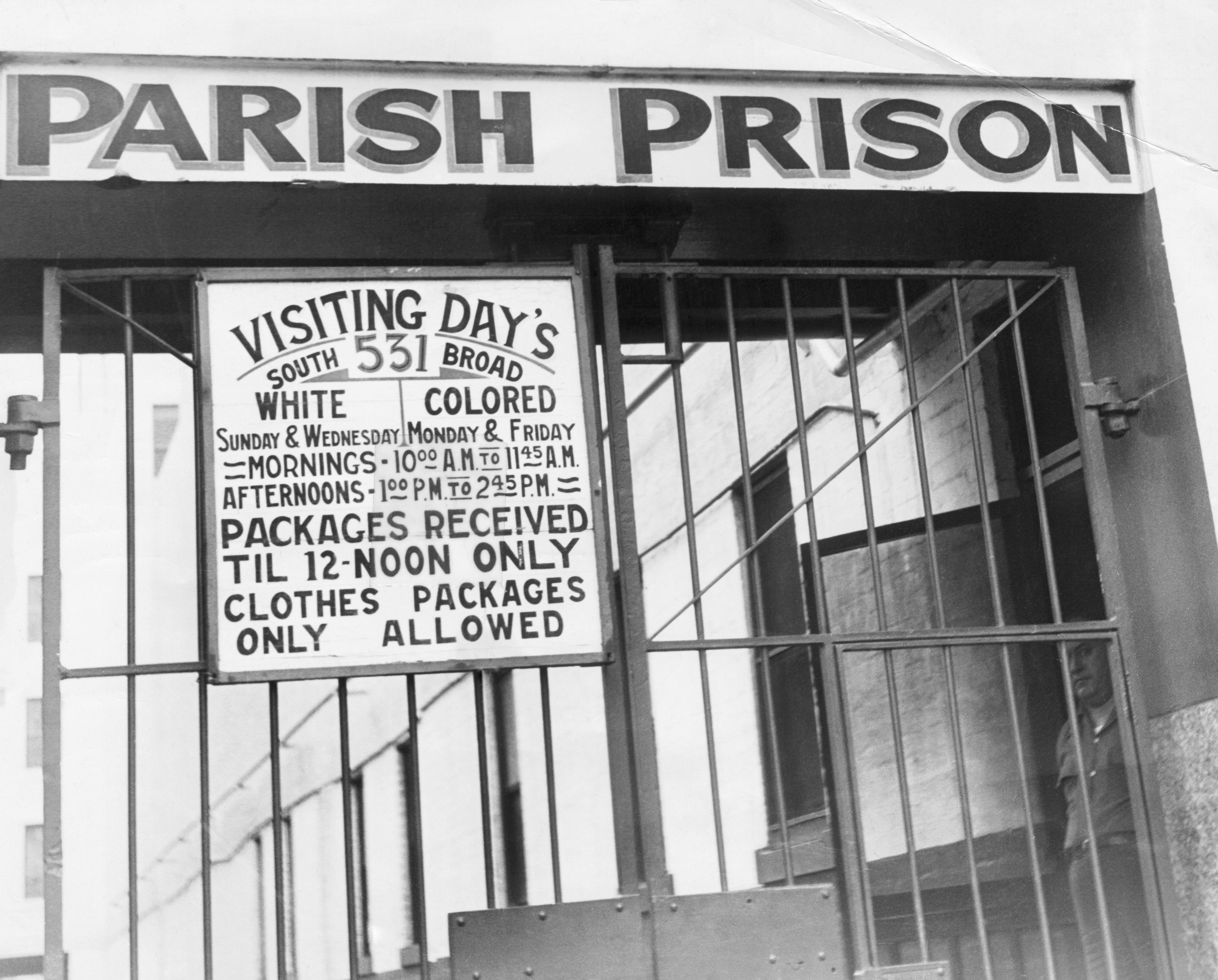 Segregation Sign At New Orleans Prison