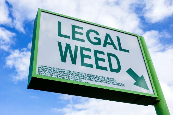 legal weed (marijuana) store sign