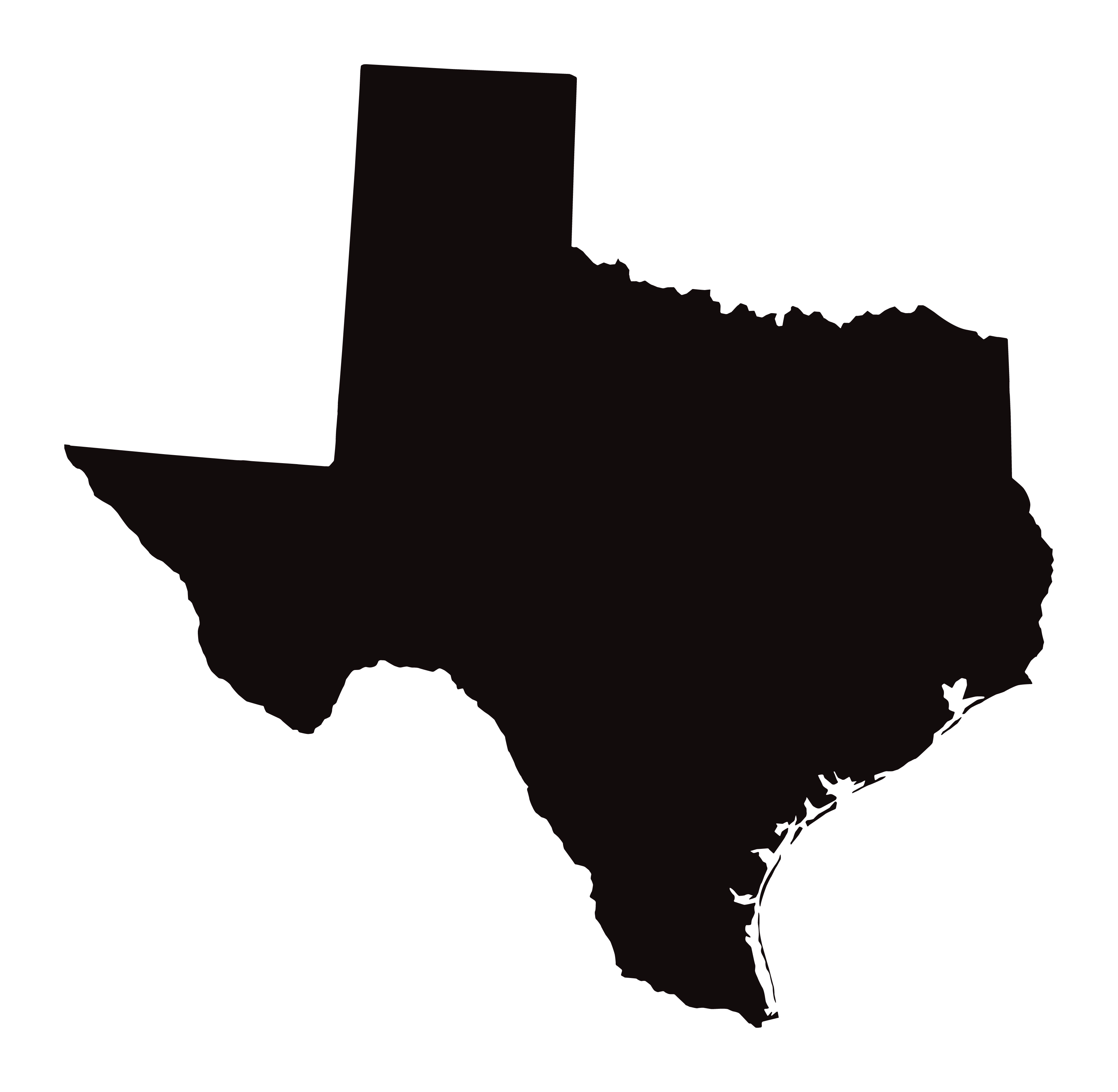 Detailed Map of Texas State