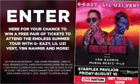 G-Eazy Endless Summer Tour Giveaway Sweepstakes