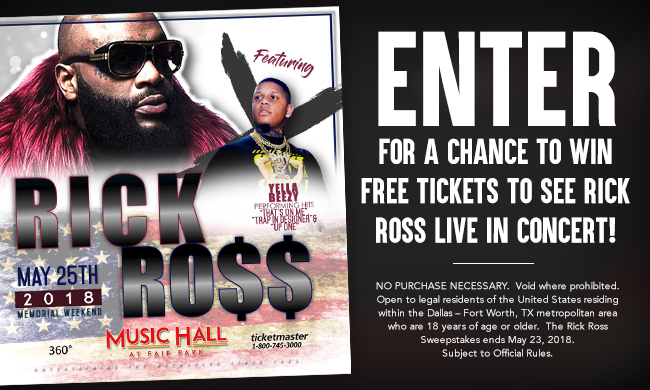 Rick Ross Giveaway Sweepstakes