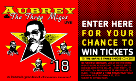 Aubrey & the Three Amigos Tour Ticket Giveaway Sweepstakes