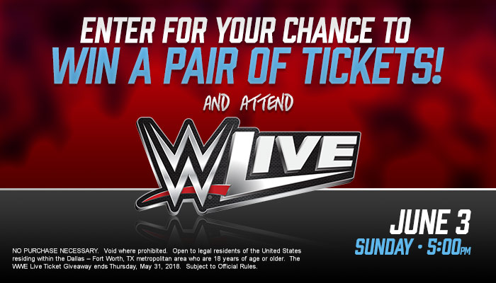 WWE Live Giveaway Sweepstakes