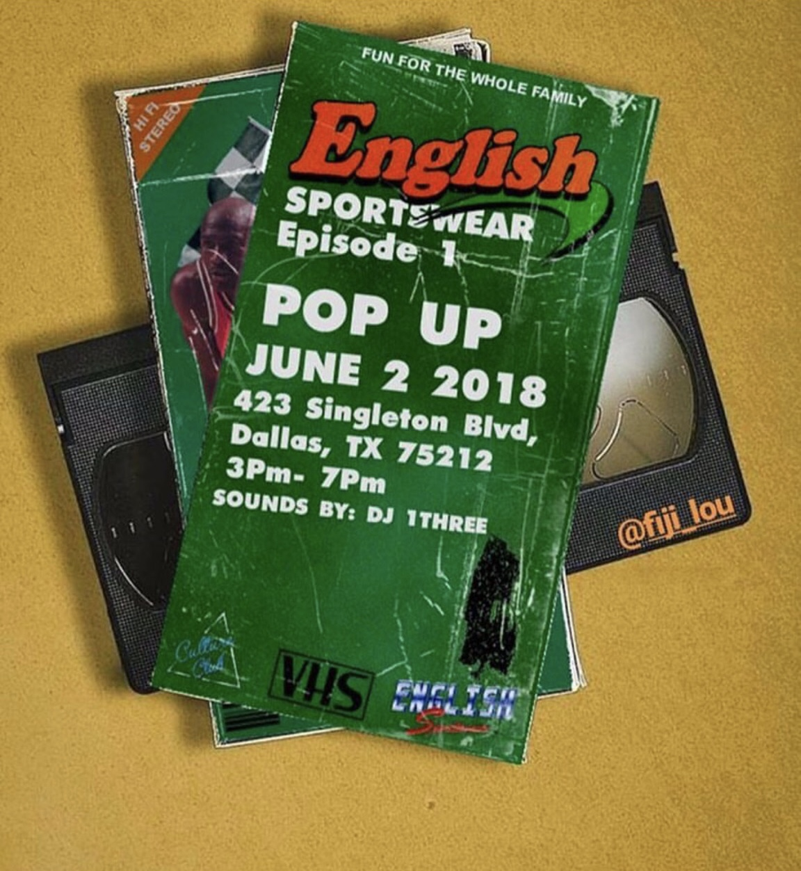 English Sportswear Pop-up