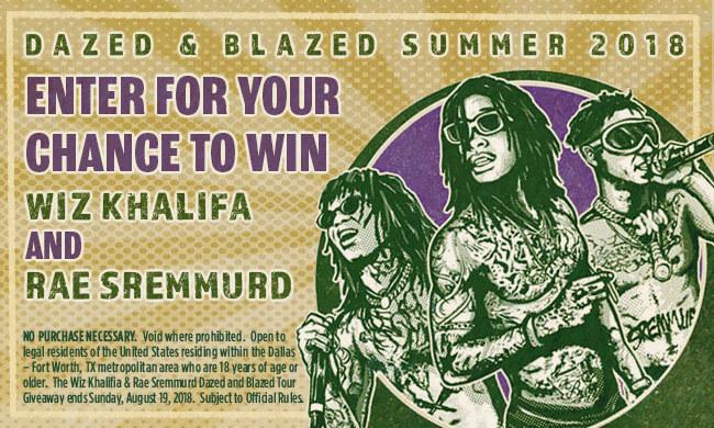 Wiz Khalifia   Rae Sremmurd Dazed and Blazed Tour Giveaway Sweepstakes b7c2844a62d5