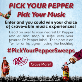 Dr Pepper: Pick your Pepper, Pick your Music