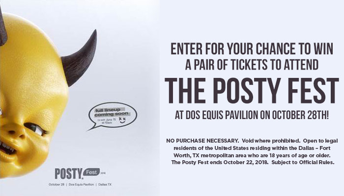 Posty Fest Ticket Giveaway Sweepstakes