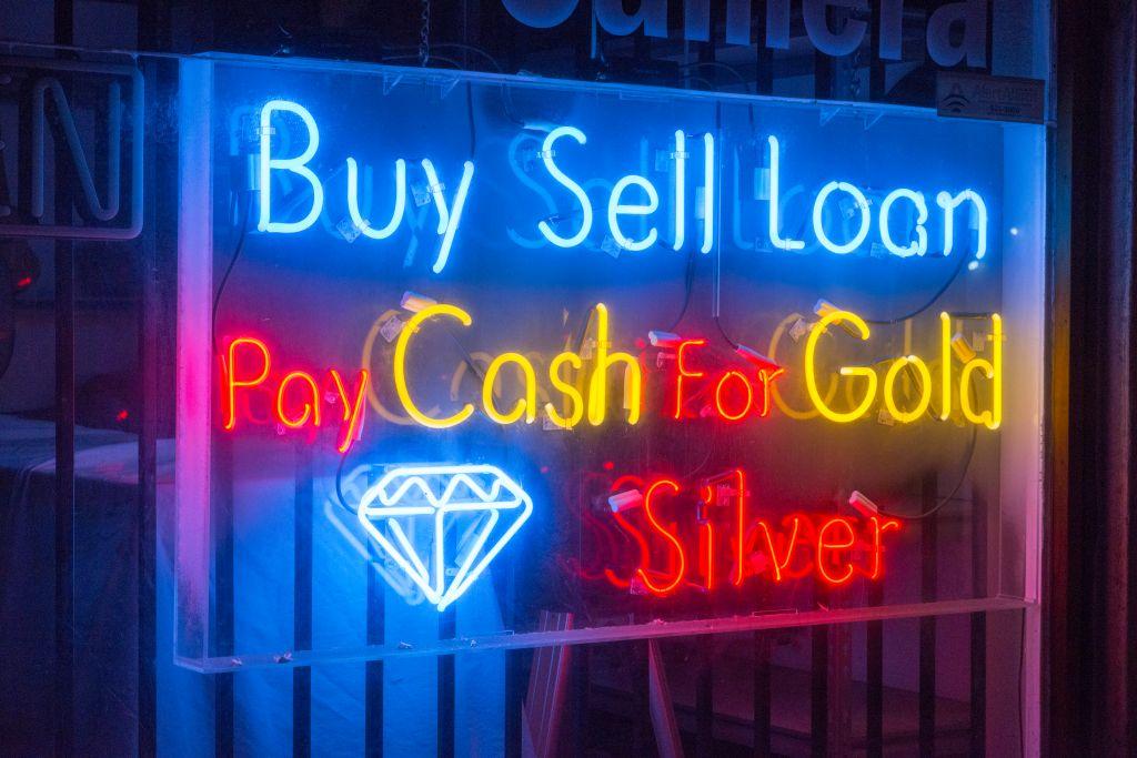 Pawn shop neon signage