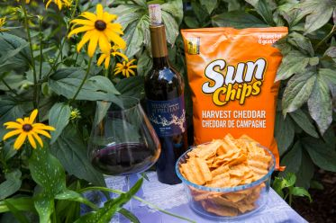 Wine pairings with chips