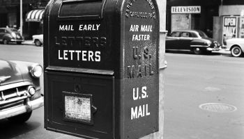 Close-up of vintage mailbox