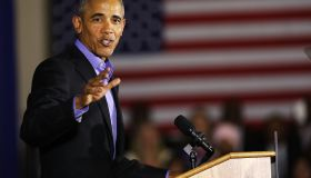 Obama Returns To Campaign Trail At Rally For NJ Gubernatorial Candidate