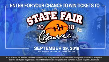 2018 State Fair Classic Ticket Giveaway_Enter-to-win Contest_KBFB_KZMJ_RD_Dallas_August 2018