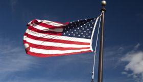 American flag, Colorado Springs, Colorado, USA
