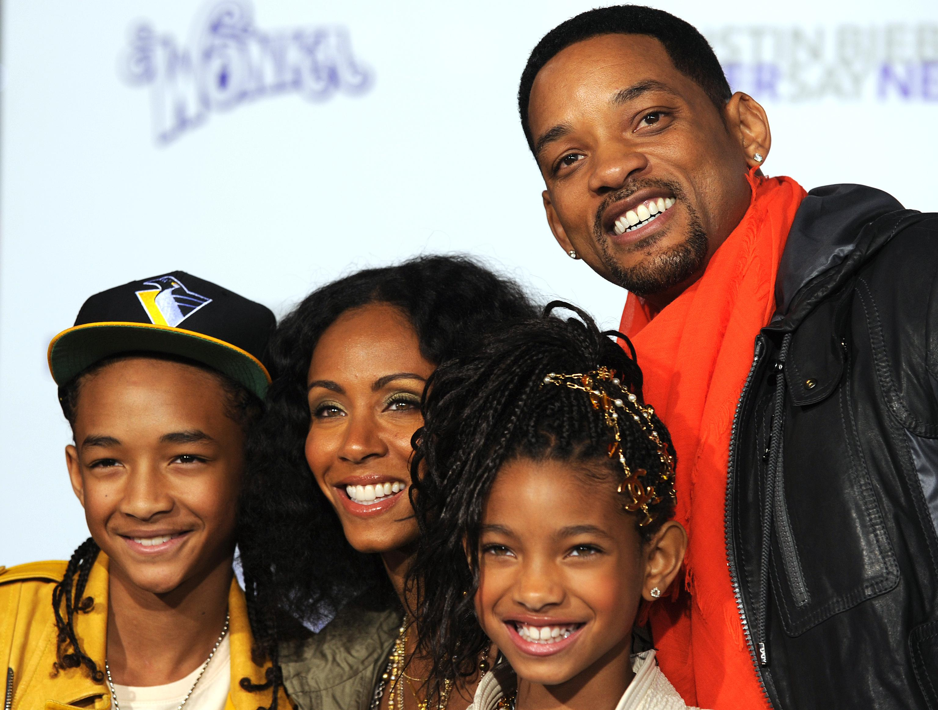 Actors Jaden Smith, Jada Pinkett Smith,