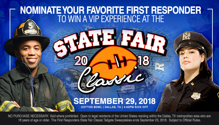 Local: First Responders State Fair Classic Tailgate_Enter-to-win Contest_KBFB_KZMJ_RD_Dallas_September 2018