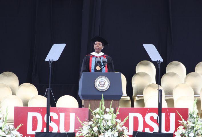 Vice President Joe Biden is the Keynote Speaker at the Delaware State University commencement speech