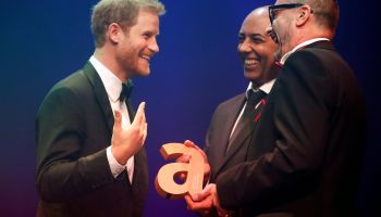 Prince Harry accepts Attitude Legacy Award on behalf of Princess Diana