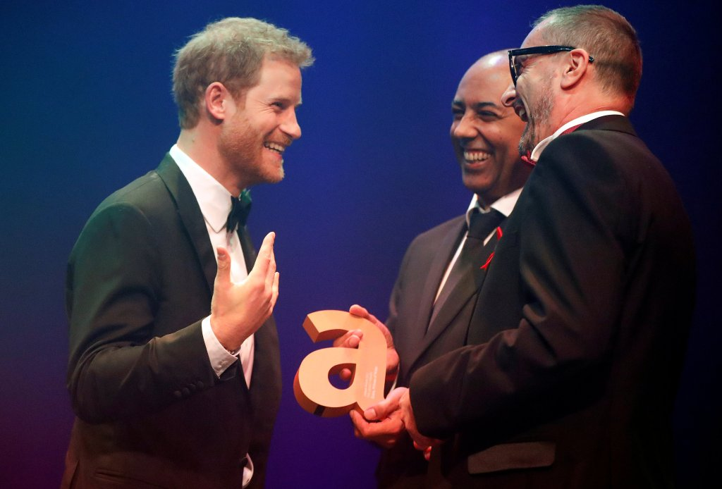 Prince Harry accepts Attitude Legacy Award on behalf of Princess Diana