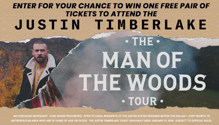 Justin Timberlake Tour Ticket Giveaway Sweepstakes