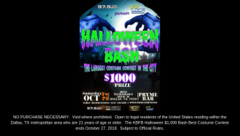 Halloween Bash Disclaimer