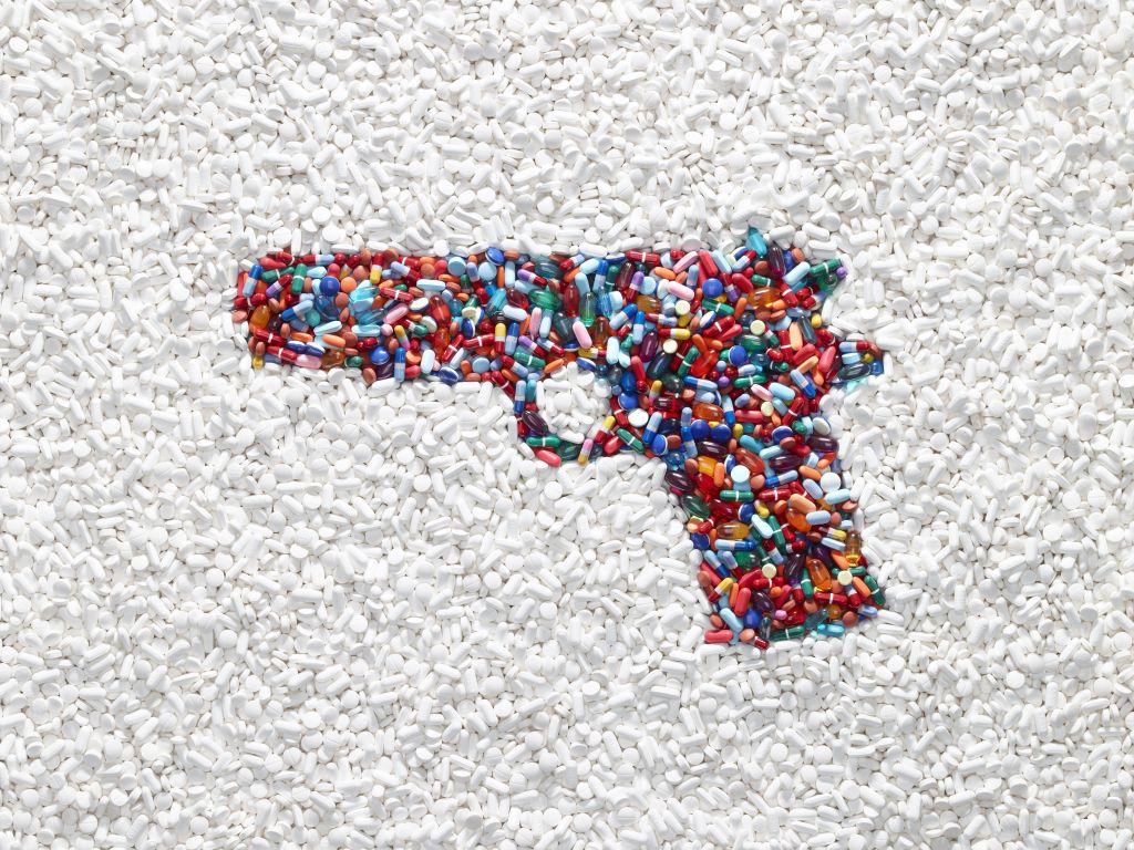 Handgun made of pills