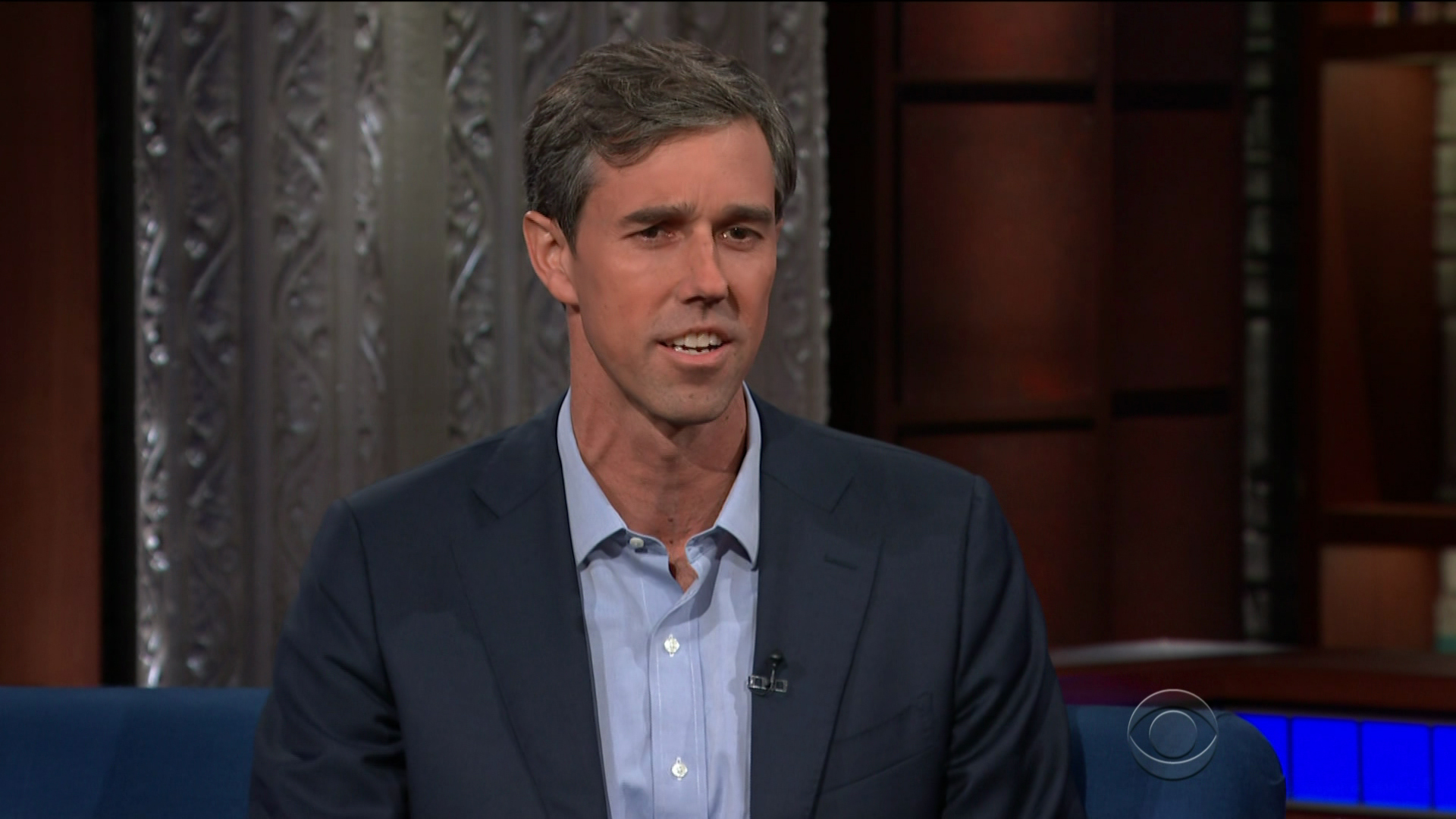 Rep. Beto O'Rourke during an appearance on CBS' 'The Late Show with Stephen Colbert.'