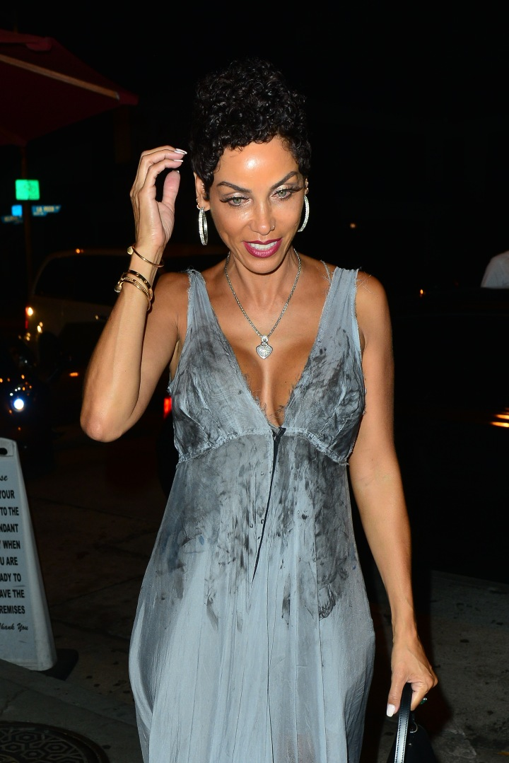Nicole Murphy out for dinner at Craig's restaurant