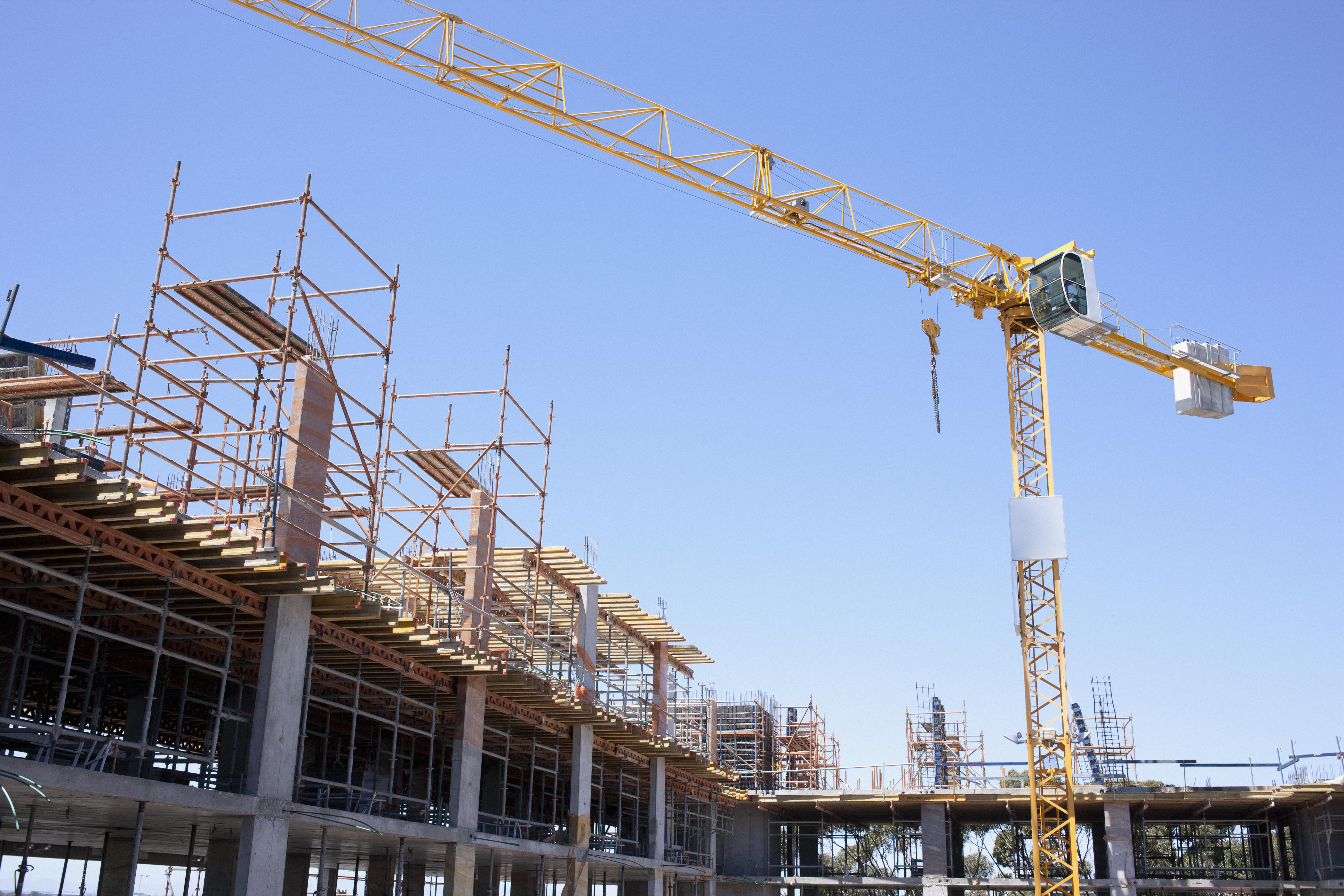 Crane on construction site