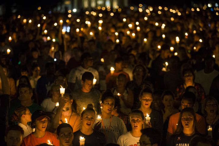 Candle Light March to Counter White Supremacist Torch March