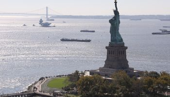 Britain's new aircraft carrier arrives in New York