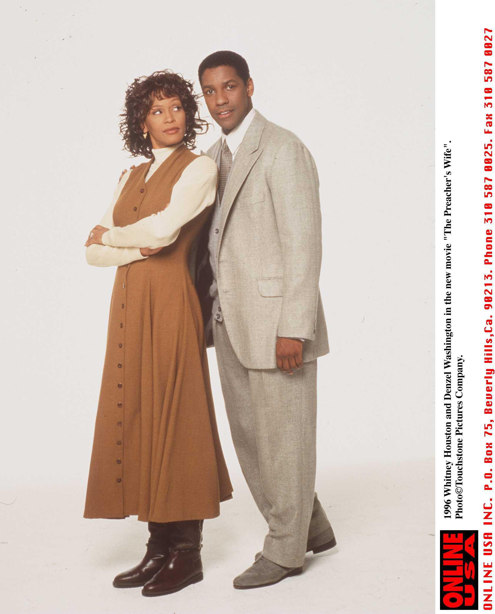 11/11/96 Whitney Houston and Denzel Washington in the new movie 'The Preachers Wife'