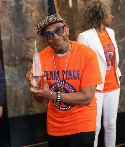 Spike Lee Lights The Empire State Building In Recognition Of National Gun Violence Awareness Month...