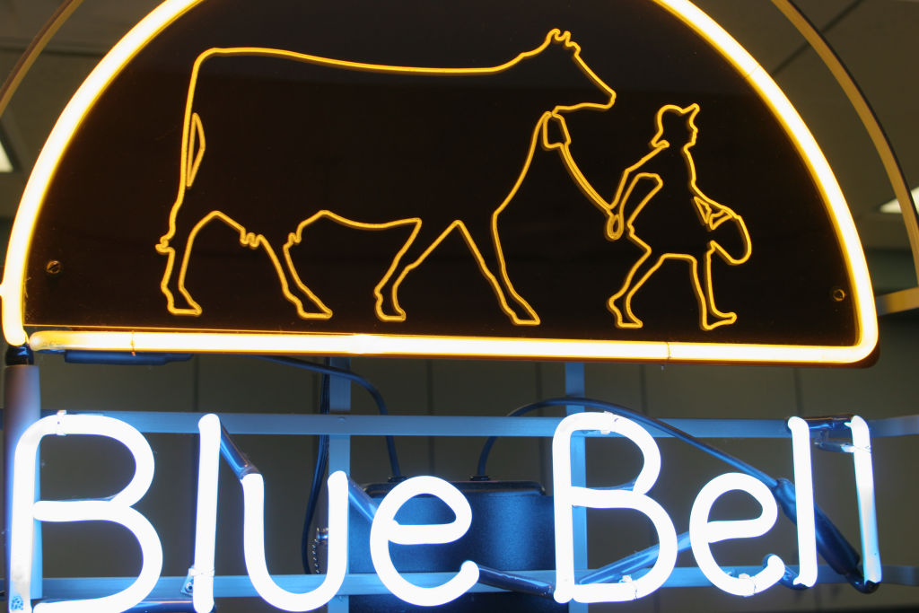 Blue Bell Creameries, neon sign.