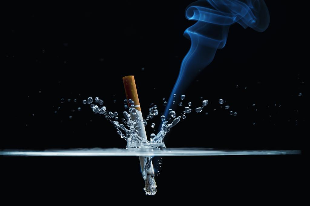 Dead of a cigarette