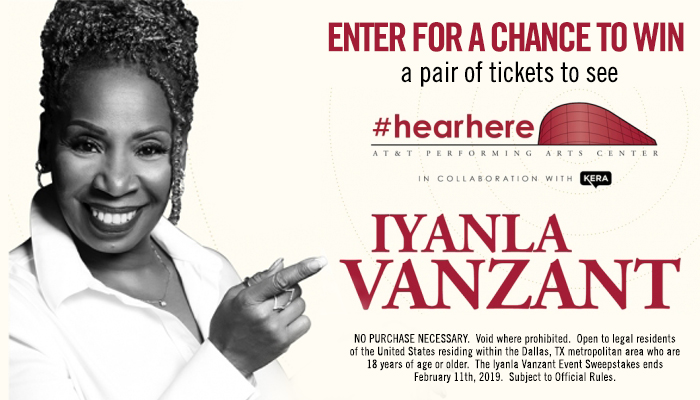 Local: Iyanla Vanzant Event sweepstakes_KBFB_RD Dallas_February 2019