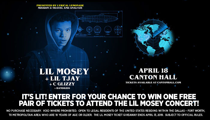 Lil Mosey Giveaway 2019