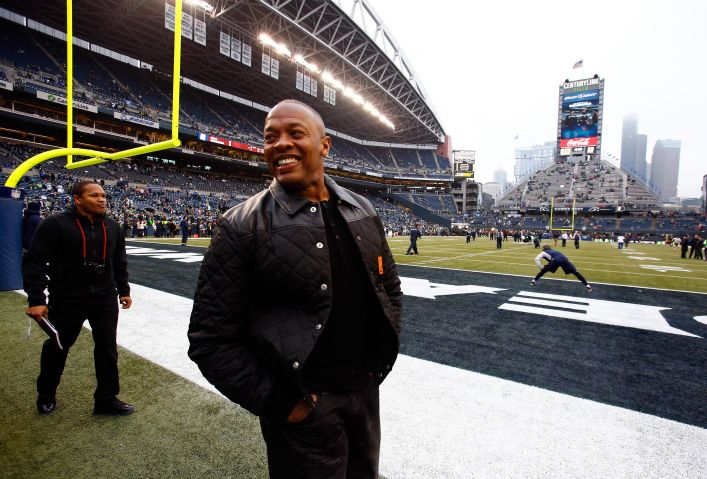 Beats By Dre's Dr. Dre And Jimmy Iovine With Seahawks And 49ers