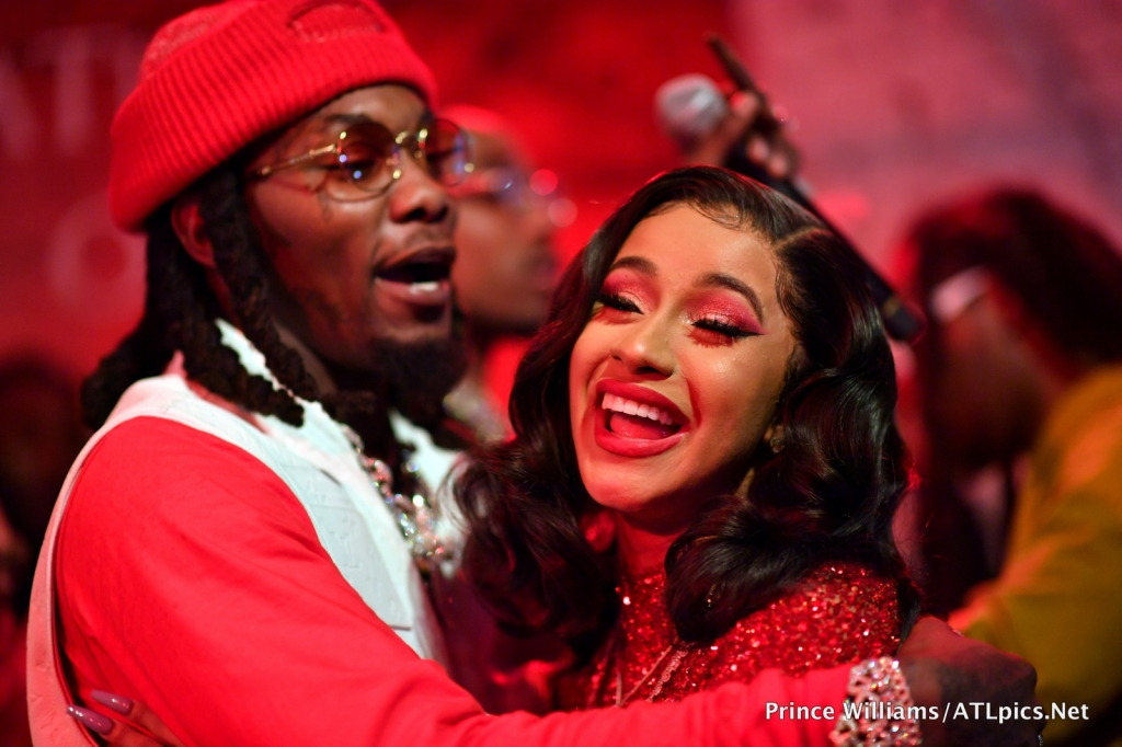 Cardi B and Offset at his Father Of 4 Album Release