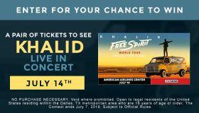 Khalid Live ticket giveaway contest