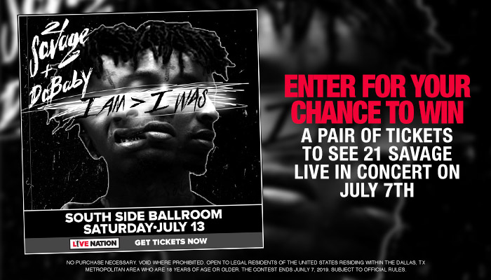 21 Savage - Contest - Live Nation