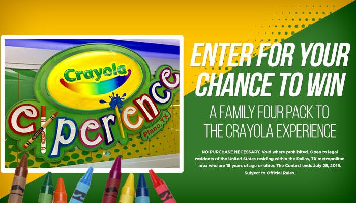 Crayola Experience Online Contest_RD Dallas_June 2019