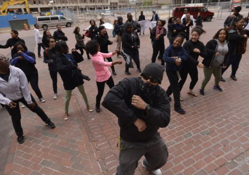Youth 'Flash Mob' For Youth Summer Jobs