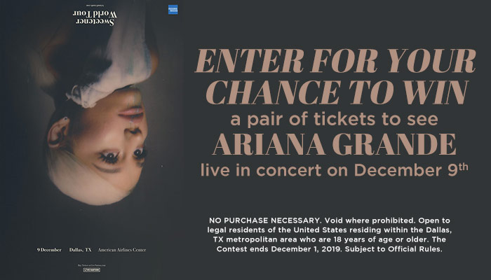 Ariana Grande Online Contest_RD Dallas KBFB_June 2019