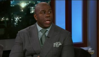 Magic Johnson during an appearance on ABC's Jimmy Kimmel Live!'