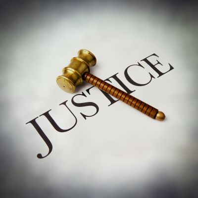 Justice and gavel
