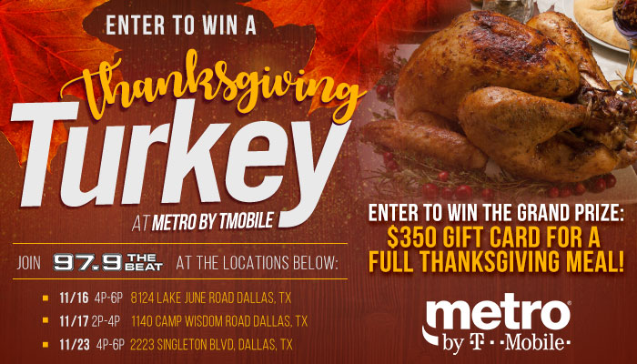 Metro by T-Mobile Thanksgiving Meal Giveaway!