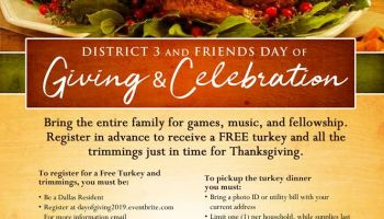 Thanksgiving Giveaway With District 3's Councilman Casey Thomas