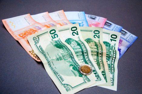 Dinero en efectivo: pesos chilenos (billetes y moneda) y dólares