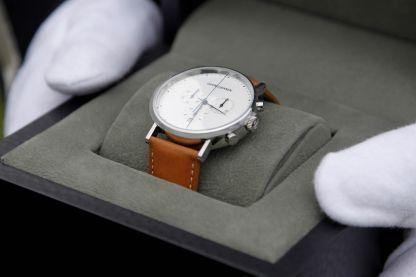 Queen Margrethe presents the Queens clock