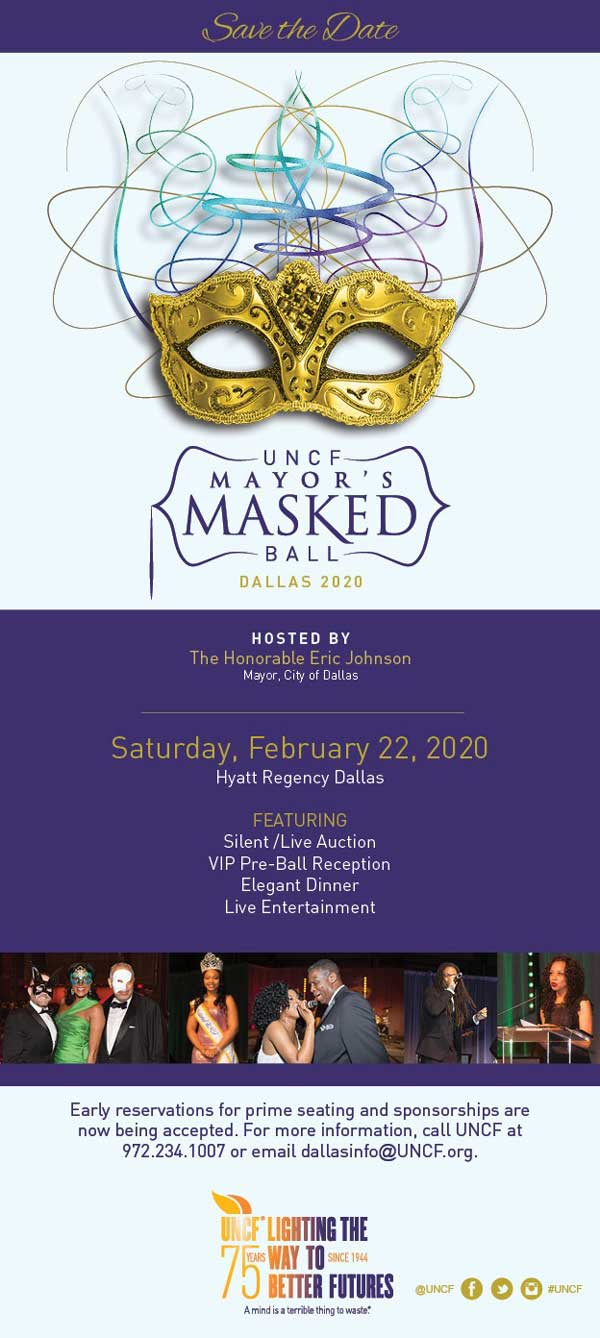 Join Us At The UNCF Mayors Masked Ball And After Party On February 22nd!